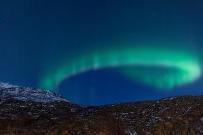 Northern Lights (Aurora Borealis) between Fjords