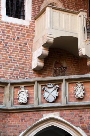 The Courtyard of the Collegium Maius of the Jagiellonski University in Krakow in Poland