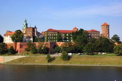 Wawel Castle on the Vistula River in Cracow (Krakow), Poland