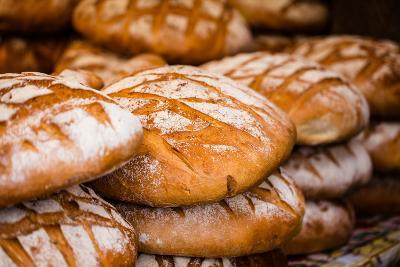 Traditional Bread in Polish Food Market in Krakow, Poland.