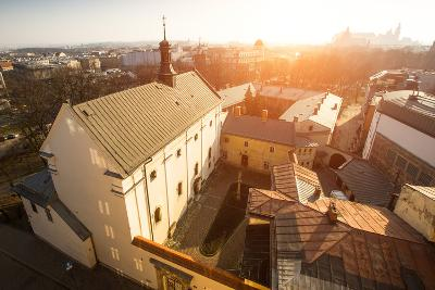 Top View of Historical Centre of Krakow, Poland.
