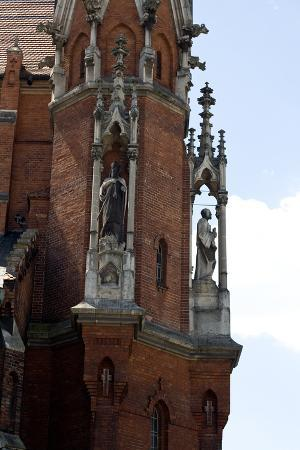 A Fragment of an Ancient Church in Krakow, Poland