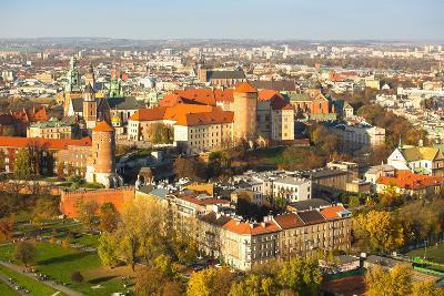 The Historic Center of Krakow with a Bird's-Eye View.
