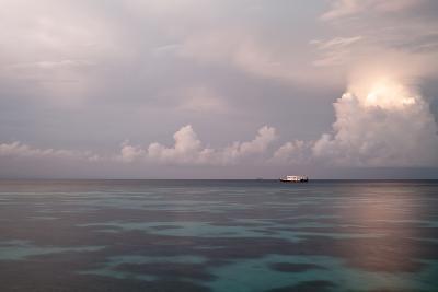 Boat on Lagoon at Morning