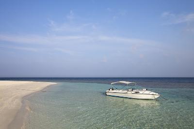 White Boat on Lagoon