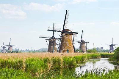 Eight from the Nineteen Windmills in Kinderdijk