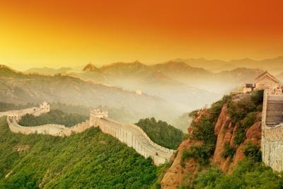 Great Wall of China at Sunrise.