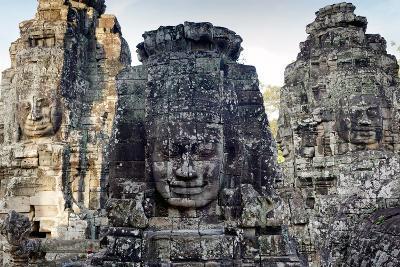 Angkor Bayon Temple Giant Faces Sculptures, Cambodia