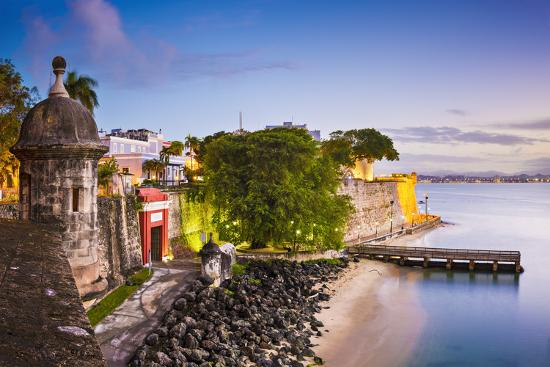 San Juan Puerto Rico Coast At Paseo De La Princesa Photographic Print Seanpavonephoto Allposters Com