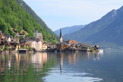 Beautiful Lake and Town in Austria