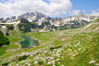 Mountain Peaks with Lake