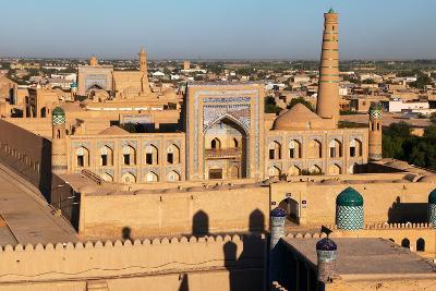 Evening View of Khiva (Chiva, Heva, Xiva, Chiwa, Khiveh) - Xorazm Province - Uzbekistan - Town on T