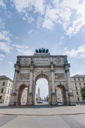 Siegestor, the Triumphal Arch in Munich, Germany