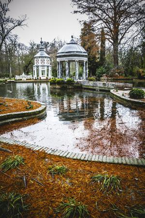 Chinoiserie.Ornamental Fountains of the Palace of Aranjuez, Madrid, Spain.World Heritage Site by UN