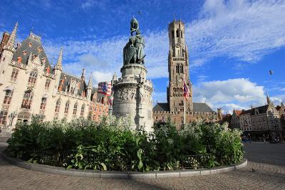 Medieval Market Square of Brugge