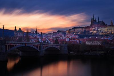 Czech Republic, Prague, Mala Strana during Sunset