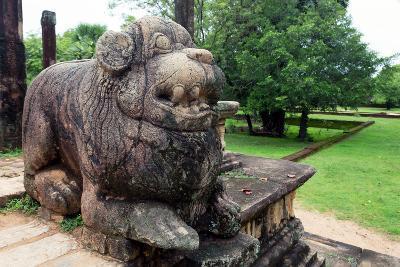 Lion Sculptures of Polonnaruwa in Sri Lanka