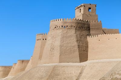 Wall of Itchan Kala (Ichon Qala) - Khiva (Chiva, Heva, Xiva, Chiwa, Khiveh) - Xorazm Province - Uzb