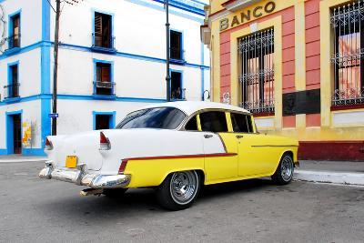 Vintage Oldtimer Car in the Streets of Camaguey, Cuba