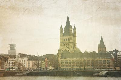 Retro Style View of Gothic Cathedral in Cologne, Germany