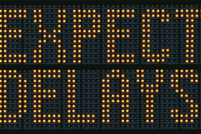 Expect Delays Congestion Sign