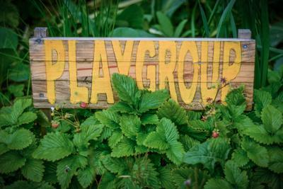 Rustic Sign for School Playgroup
