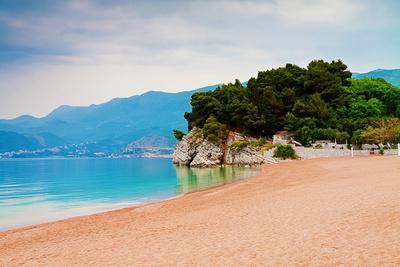 Empty Beach of Saint Stephan, Montenegro