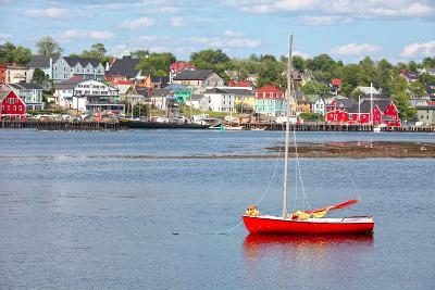 View of the Harbour and Waterfront of Lunenburg, Nova Scotia, Canada. Lunenburg is a Historic Port