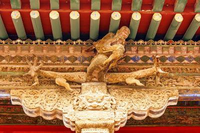 Ornately Painted Beams in the Forbidden City Shenyang Beijing China