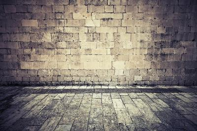 Stone Wall and Pavement of Old Town Square. Instagram Effect