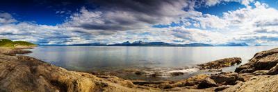 Panoramic Long Exposure Shot of A Norwegian Fjord