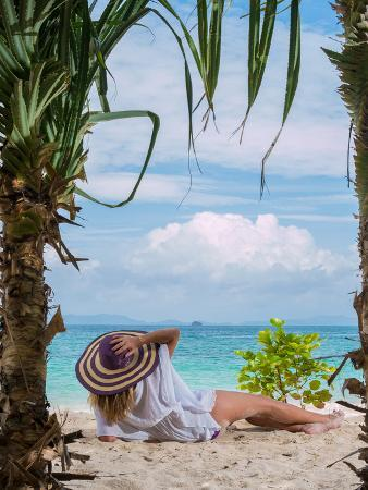 Woman Relaxing on the Beach in Thailand