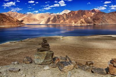 Rocks, Stones, Mountains,Pangong Tso (Lake),Leh,Ladakh,Jammu and Kashmir,India