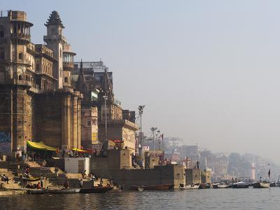 Western Bank of the Sacred Ganges River in Varanasi, India