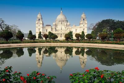 Victoria Memorial, Kolkata , India - Reflection on Water.