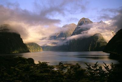 New Zealand Milford Sound During a Storm
