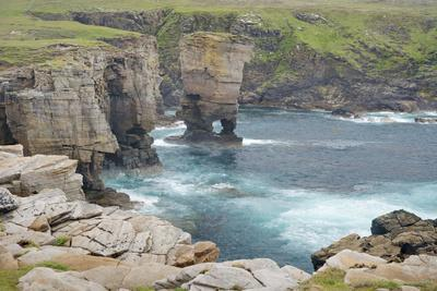 Cliffs at Yesnaby and Offshore Stack Yesnaby Castle