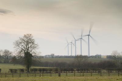 Wind Turbine a Row of Wind Turbines Producing Green Energy