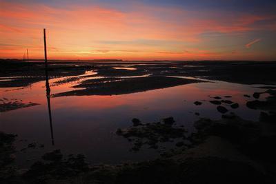 Pilgrim's Way Tidal Causeway to Holy Island at Dawn