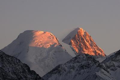 Tienschan Mountain with Khan Tengri Peak