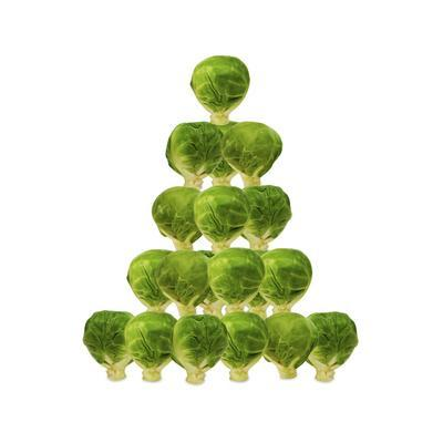 Brussel Sprout in Christmas Tree Shape