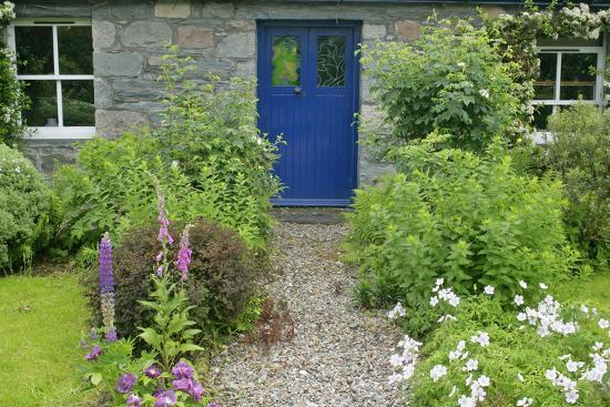 Cottage Garden In Spring With Path Leading To Front Door