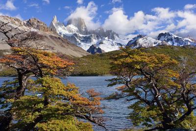 Fitz Roy Massif Mountain Scenery Including Cerro