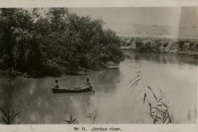Boating on the River Jordan, Palestine