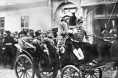 King Peter I and the Crown Prince Leaving Belgrade
