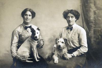 Two Women with Two Little Dogs