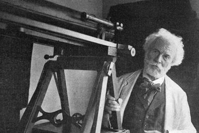 Flammarion and Telescope