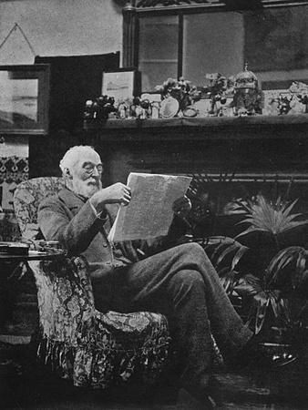 Sir Hugh Bell in Gertrude's Sitting Room - Baghdad, Iraq