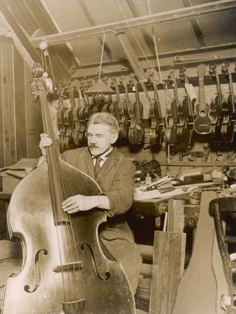 Stringed Instrument Maker in His Workshop