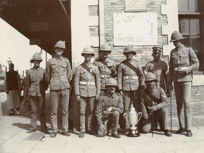 British Soldiers on Chinese Street